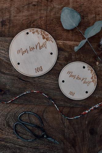 """Médaillon """" Mon 1er Noël - 2018"""" - 8 cm"""
