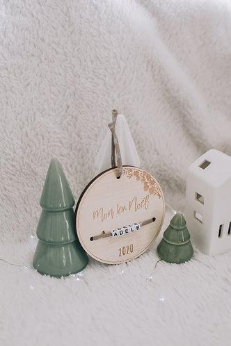 """Médaillon """" Mon 1er Noël"""" - 10 cm"""