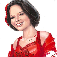 Retrato al goache - Ángela Aguilar