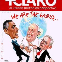 Revista Más Claro - Barack Obama, Papa Francisco, Raúl Castro