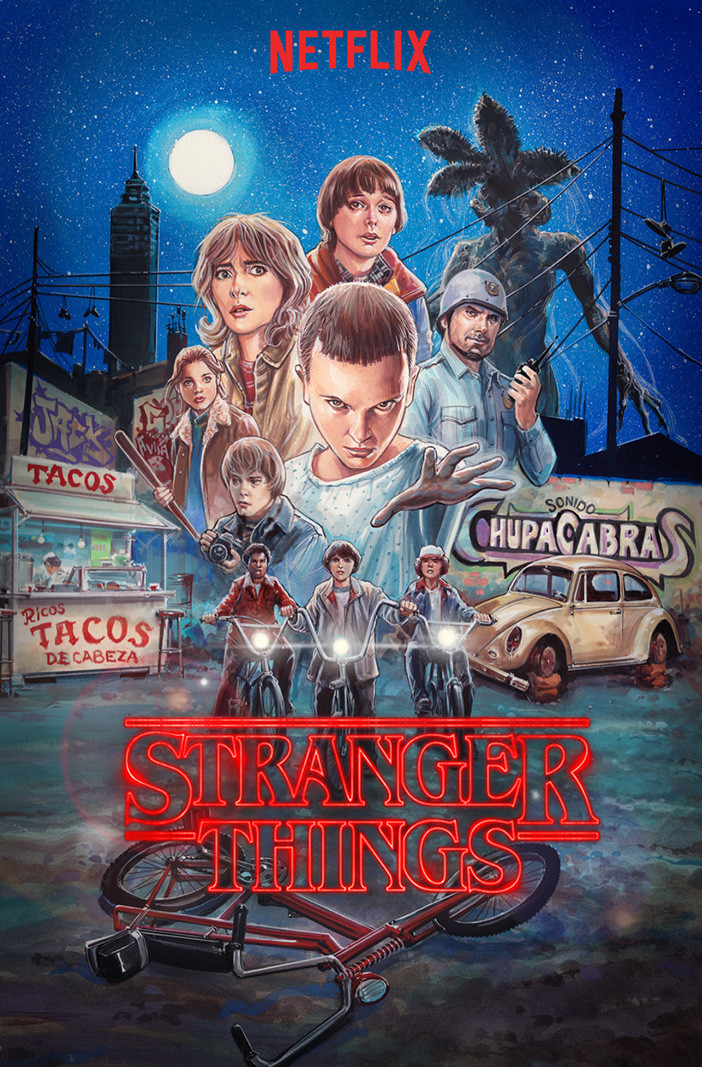 "Ilustración para cartel ""Stranger Things"" ReMEXcla"