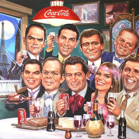 Coca Cola - Grupo directivo caricaturizado