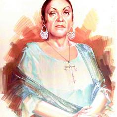 Retrato al goache - Katy Jurado