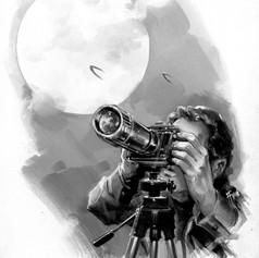 OVNIS - ilustración editorial