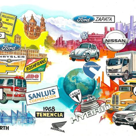 Infografía industria automotriz