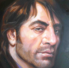 Retrato al óleo - Javier Bardem