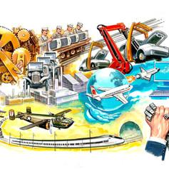Infografía industria Transporte