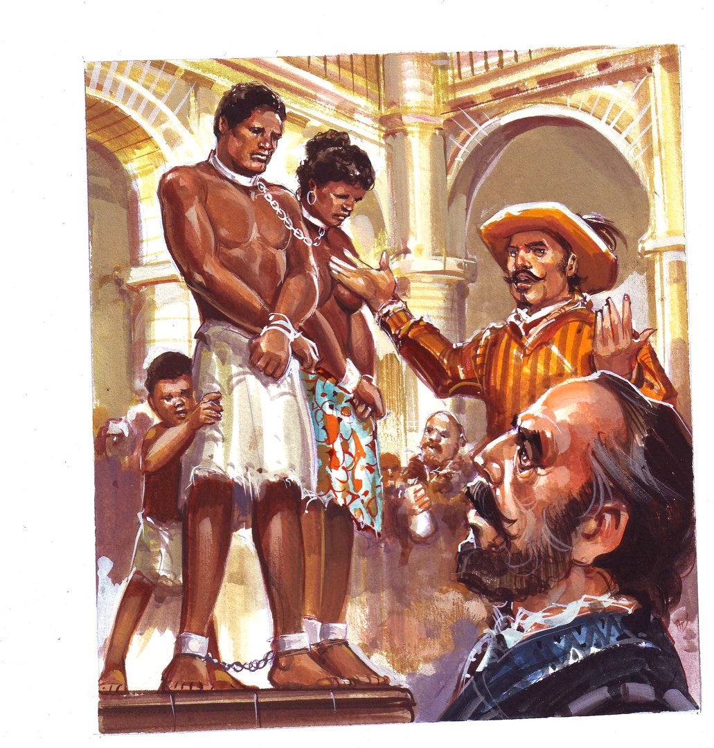 """Ilustración editorial """"Esclavitud"""""""