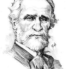 Retrato tinta - Giuseppe Verdi