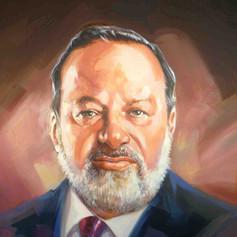Retrato al óleo - Carlos Slim