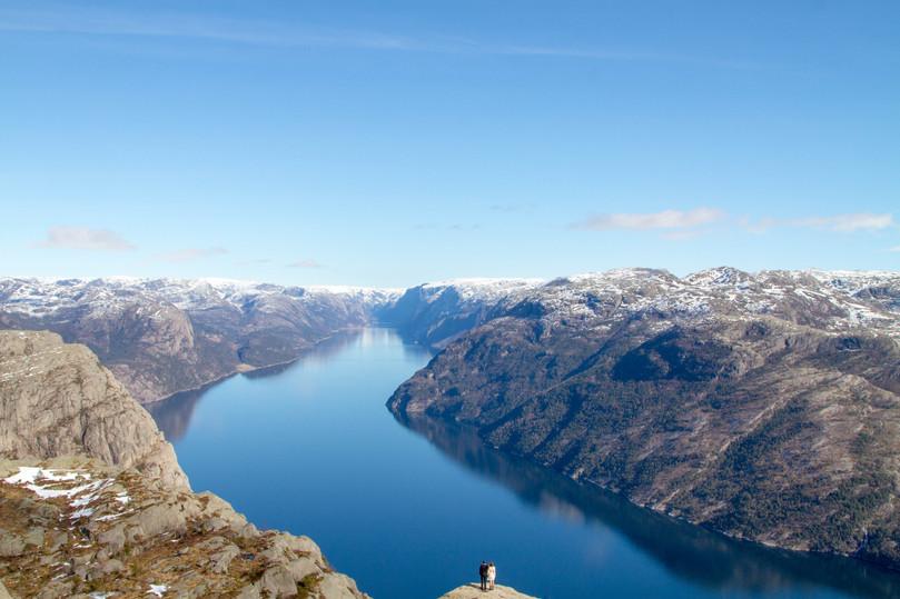 Séance photo dans les Fjords en Norvège
