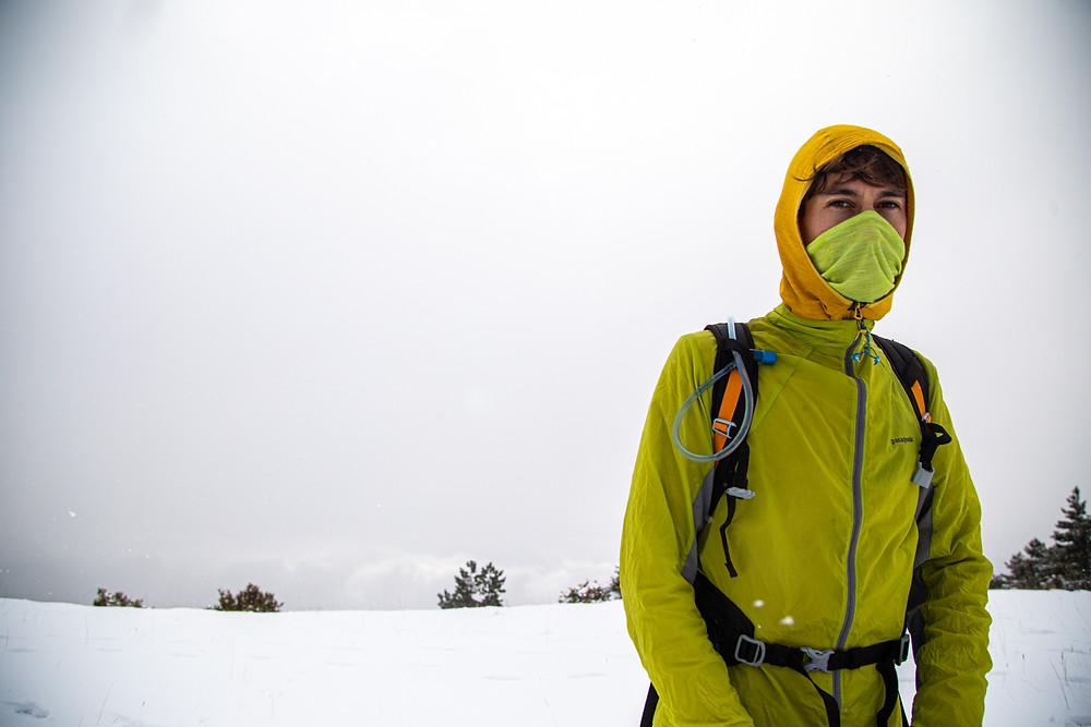 Portrait trail running