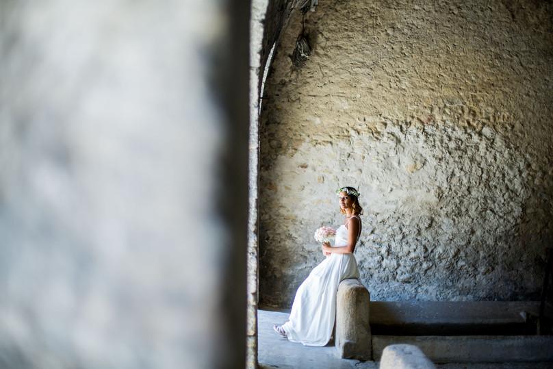 la mariée attend