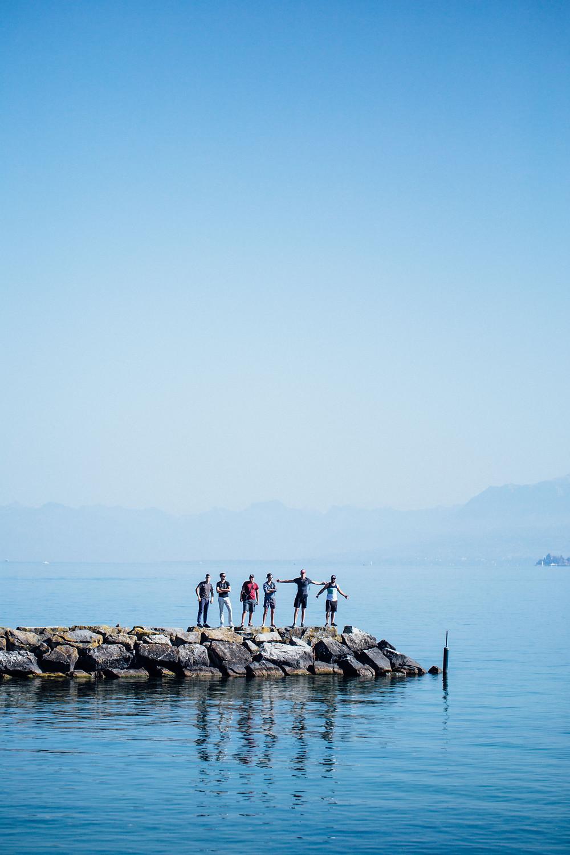 Première halte au lac de Genève