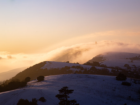 Luberon, blanc neige