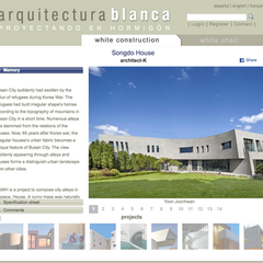 Songdo House is Featured in Arquitectura Blanca.