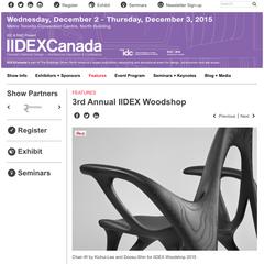 3rd Annual IIDEX Woodshop Finalist
