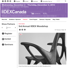 3rd Annual IIDEX Woodshop Finalist
