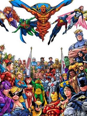 quais os super-herois mais populares do mundo!