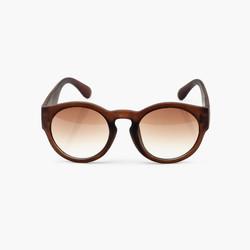 Brown gafas de sol redondas