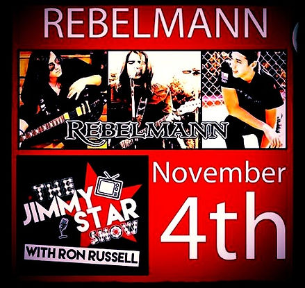 REBELMANN Guest on Jimmy Star Show: Number one webcast in the world