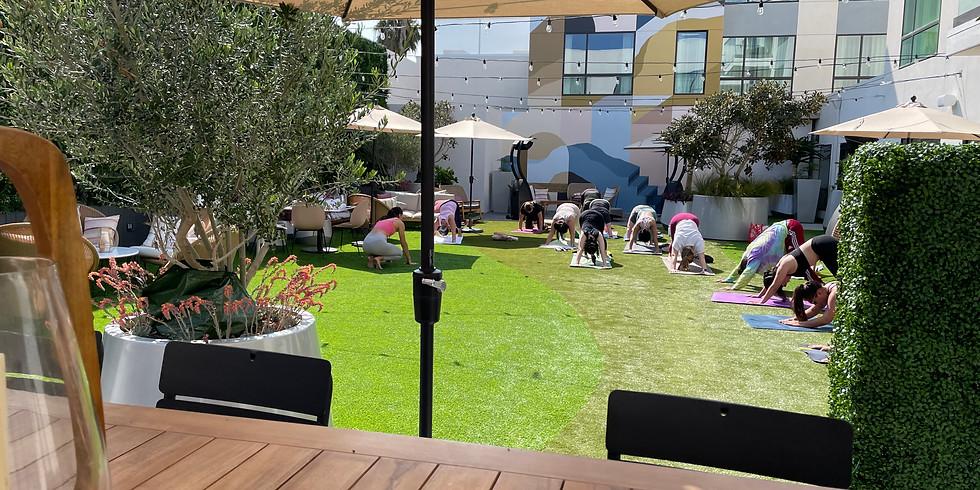 Courtyard Yoga & Champagne
