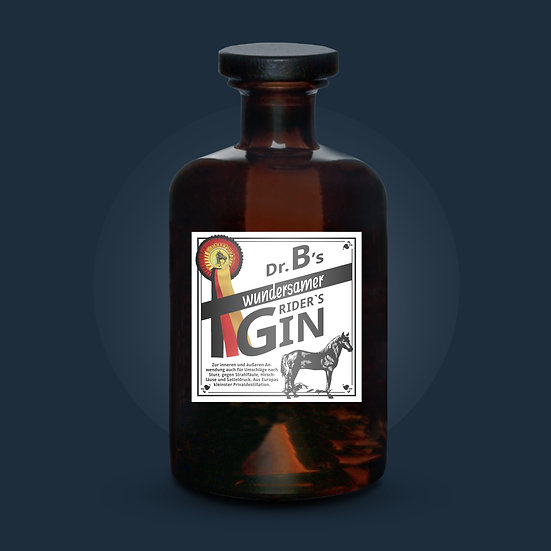 Dr. B's wundersamer Rider's Gin 43% vol