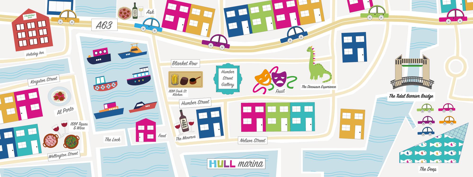 Hull Marina Map