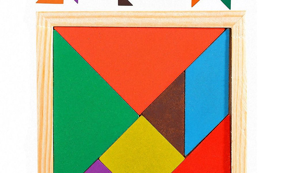 3D ξύλινο παζλ με χρώματα