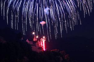 Referenz Feuerwerk Liechtenstein Schloss