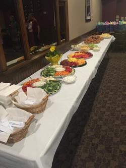 Bridal Shower Full Food Table