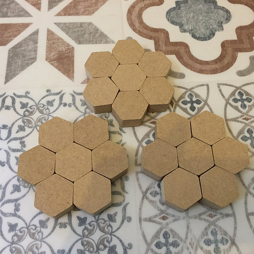 Mini Hexies (Lots of pack size options)
