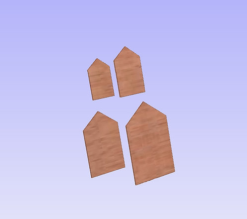 4mm Backings for Hollow Peg Doll Houses