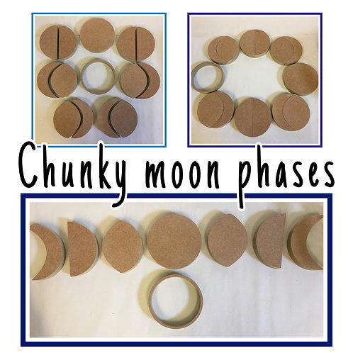Chunky 10cm Moon Phases Set
