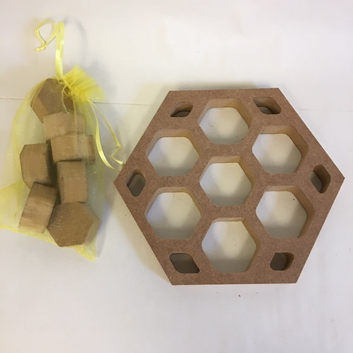 Hollow HoneyComb Hexagon with Hexies