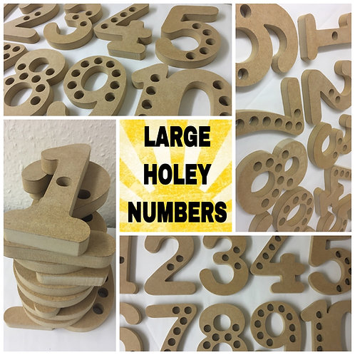 15cm numbers with holes set 1-10