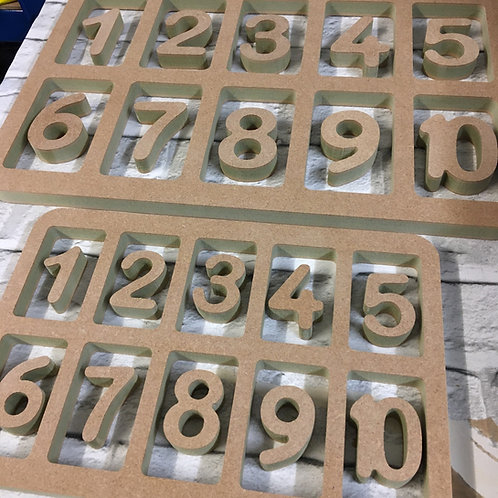 Extra Large HOLLOW 10 Frames with Numbers