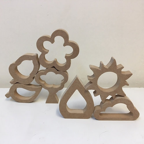 Hollow Nature Shapes (Set of 7)