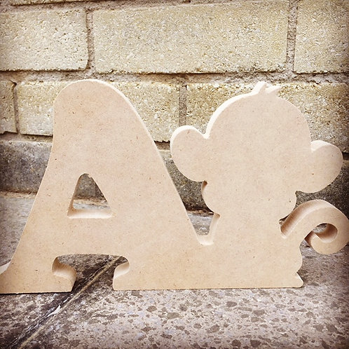 Animal Character Letters 15cm Tall