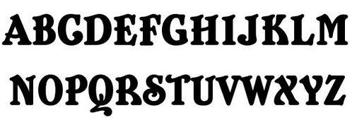 Belshaw Font Wall Letters