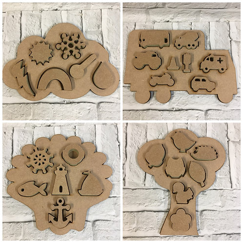 Themed Inset Shape Sorter Puzzles