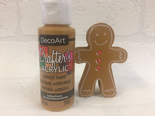 Crafters Acrylic Golden Brown