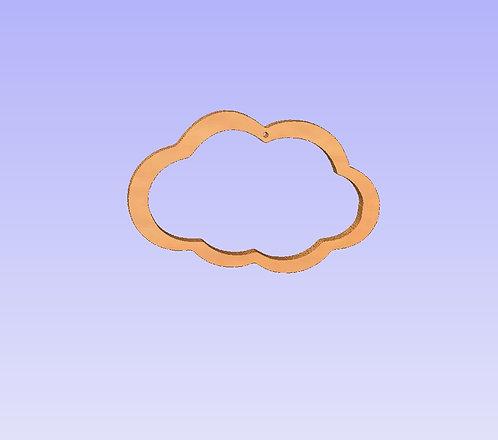6mm (31cm wide) Hollow Cloud Shape