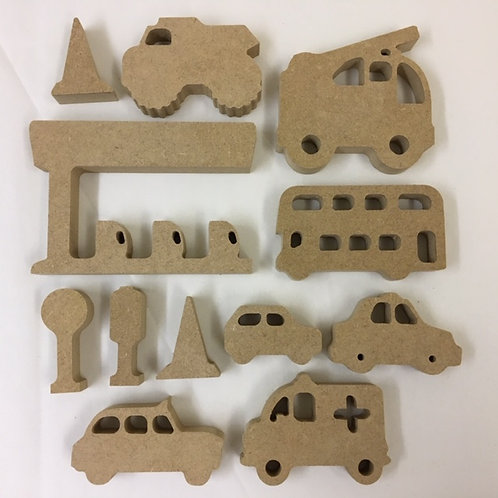 Mini set Vehicle/Road Shapes