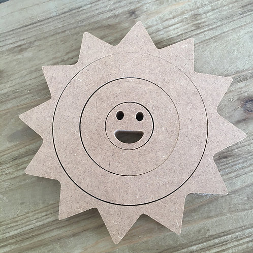 Nesting Sun with smiley face