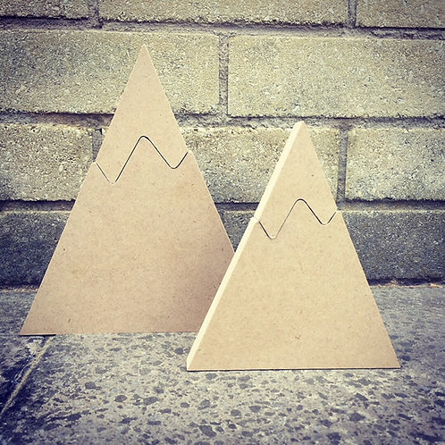 Pair of Mountains with Separate Peaks