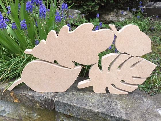 Leaf and Acorn shapes - Single or Sets