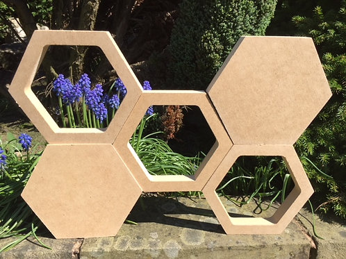 Hexagon Hollow and Solid set