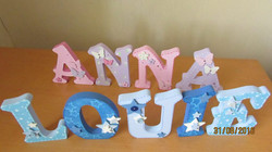 Boys and Girl's themed letters
