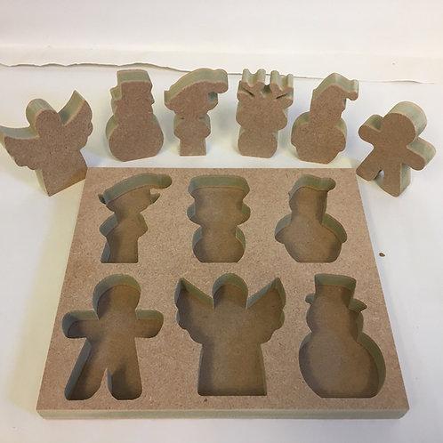 Little Christmas Figures with optional Shape Sorter